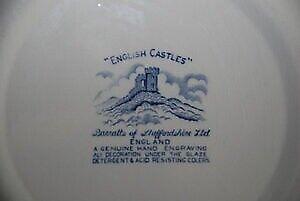 Fajance, Dybe tallerkner, English Castles fra Barratts of