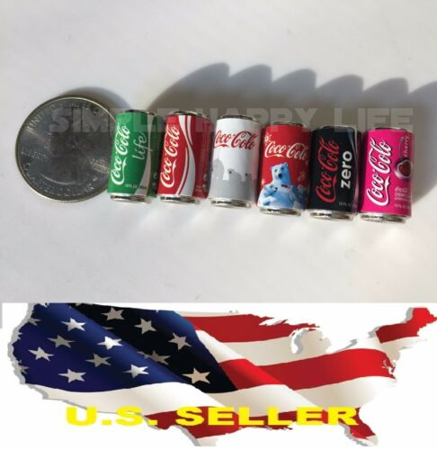 1//6 6 x cans of Coke Coca-Cola for Hot toys Kumik Phicen stage property ❶USA❶