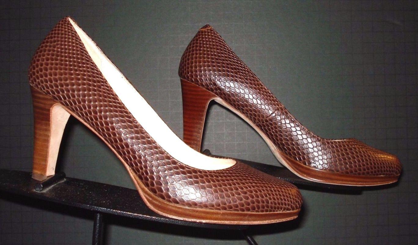 in vendita Donna  Cole Haan Marrone Faux-Lizard Leather Classic Pumps Pumps Pumps Sz. 6B MINTY   prendiamo i clienti come nostro dio