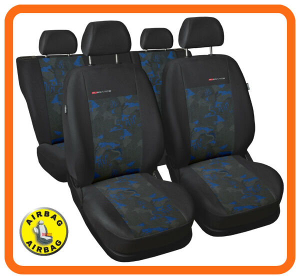100% Kwaliteit Car Seat Covers Full Set Fit Daewoo Leganza - Charcoal Grey/blue Velour Met Een Langdurige Reputatie