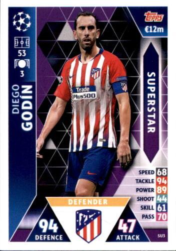 Champions League 18//19 Superstar Diego Godin Karte SU3