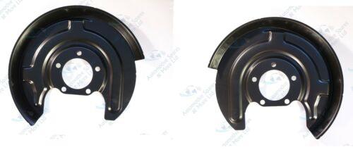 For Audi A6 Skoda Superb VW 2x Rear Brake Disc Dust Cover Back Plate Shield Pair