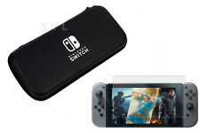 Black Hard Carry Case Cover Pouch+Screen Protector for Nintendo Switch Console