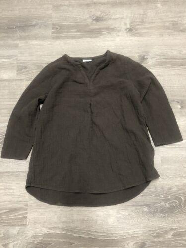 j. jill pure Jill linen womens blouse Shirt Top Bo