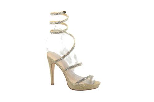 Womens Emma Designer Spiral Diamante High Heel Sandals