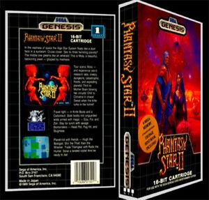 Phantasy Star 2 Sega Genesis Reproduction Art Case Box No Game Ebay