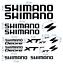 La-Shimano-cut-Decals-stickers-Bicycle-autocollant-pegatinas-adesivi-618 miniatura 1