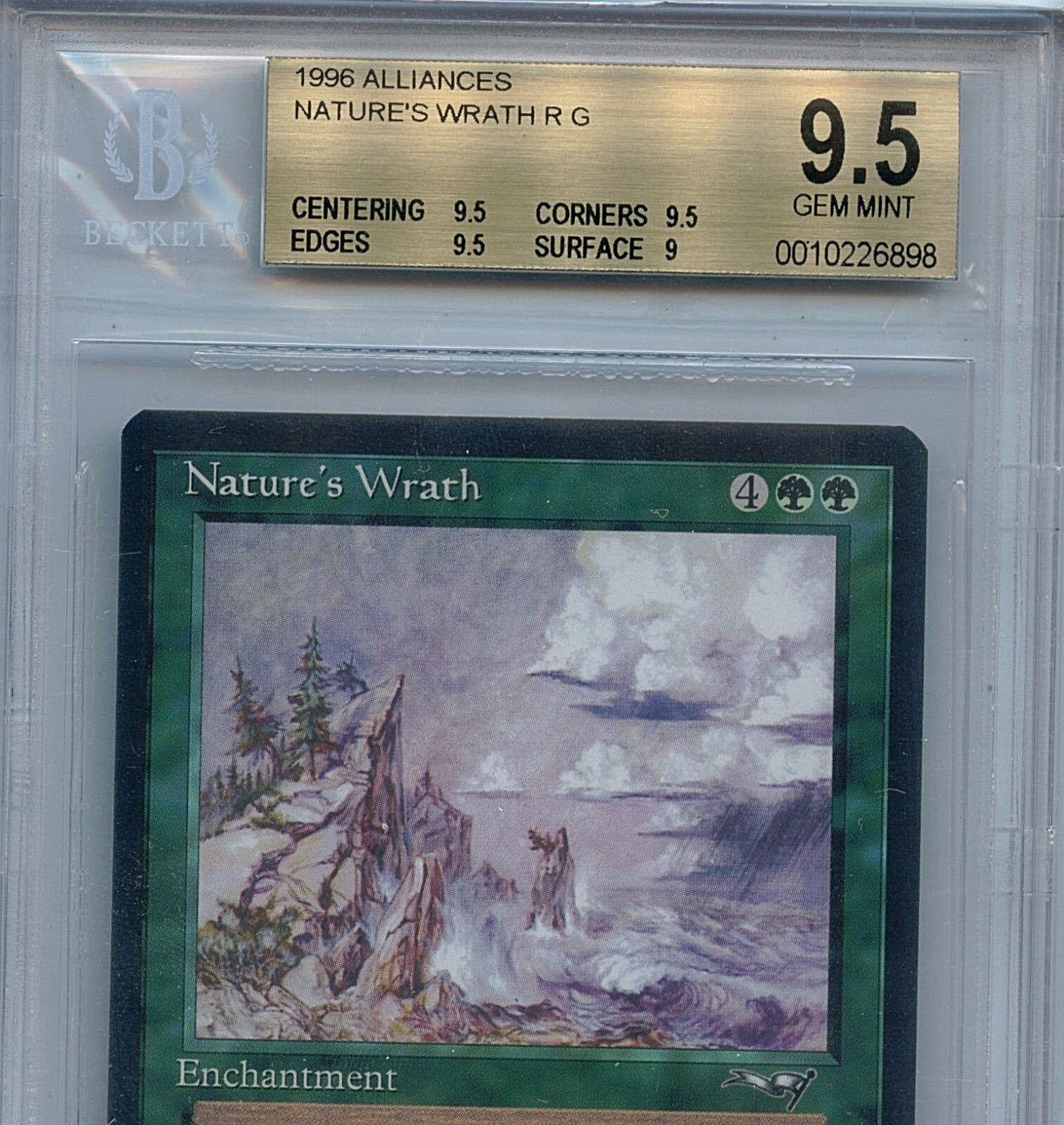 MTG Nature's Wrath BGS BGS BGS 9.5 Gem Mint Alliances Magic Card Amricons 6898 d2ddd5