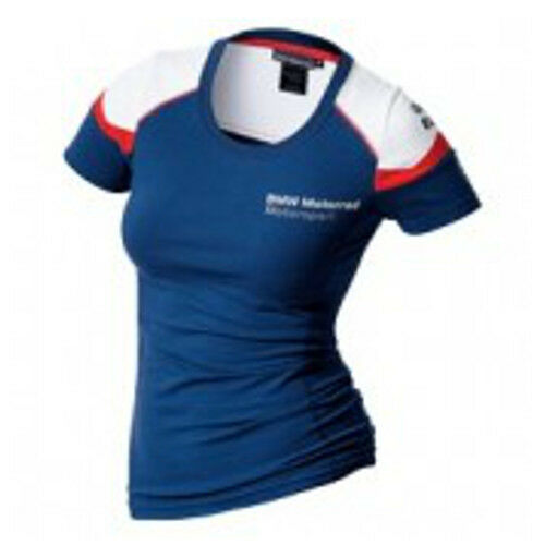 New BMW Motorrad Motorsport Ladies T-Shirt (Official BMW Apparel)
