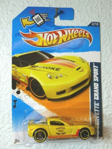 HW Main Street /'12 YELLOW 2012 Hot Wheels /'11 CORVETTE GRAND SPORT #162