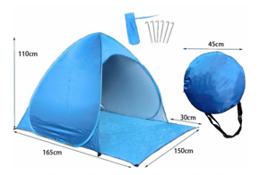 Waterproof Blue Pop Up Holiday Camping Play Shelter Tent Easy Quick Light Girl