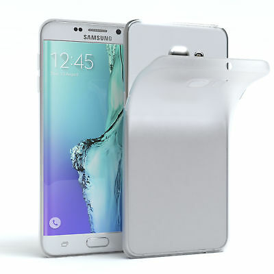Schutz Hülle für Samsung Galaxy S6 Edge Plus Cover Handy Case Matt Transparent