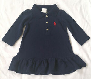 1ab040fb8e La imagen se está cargando Nuevo-Bebe-Ralph-Lauren-Vestido-Polo-de-manga-
