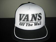 Vans Shoes Fitzhughes OTW Trucker Hat Cap Black White adjustable Free Ship NWT