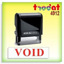Void Custom Office Stock Self Inking Rubber Stamp Red Trodat 4912 Ideal 80