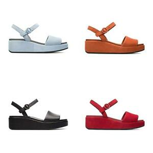 NEW-Camper-Women-s-Misia-Shoes-Ankle-Strap-Wedge-Heel-Leather-Summer-Sandals