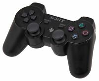 Black Sony PlayStation 3 PS3 Dual Shock 3 Controller Wireless Gamepad