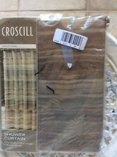Croscill VENTURA Natural Stripe Fabric Shower Curtain