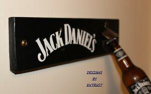 JACK DANIELS Sign Wall Mounted Bottle Opener Man Cave Bar Rustic Reclaimed Wood