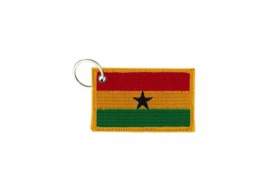 Schlüsselring schlüssel gestickt aufnäher flicken abzeichen flagge ghana
