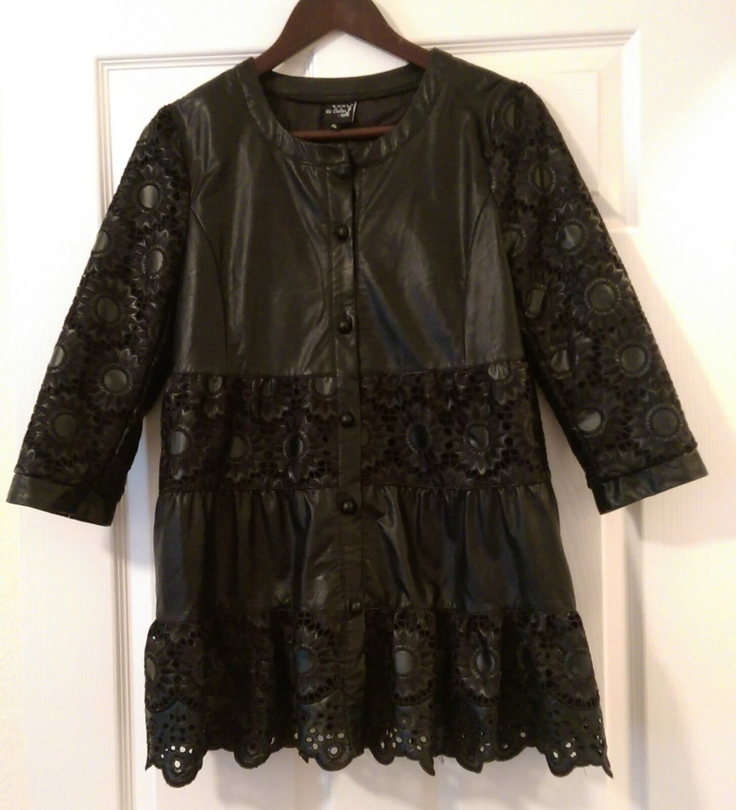 Womens Leather Fashion Coat size M Original Price is