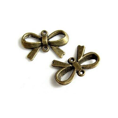 3 Connecteurs entre-deux /_ Flot noeud 15x22mm /_ Perles apprêts créa bijoux /_A313