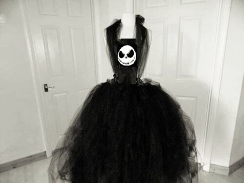 Kids Jack Skellington Nightmare Before Christmas Inspiré Costume Halloween 8-9