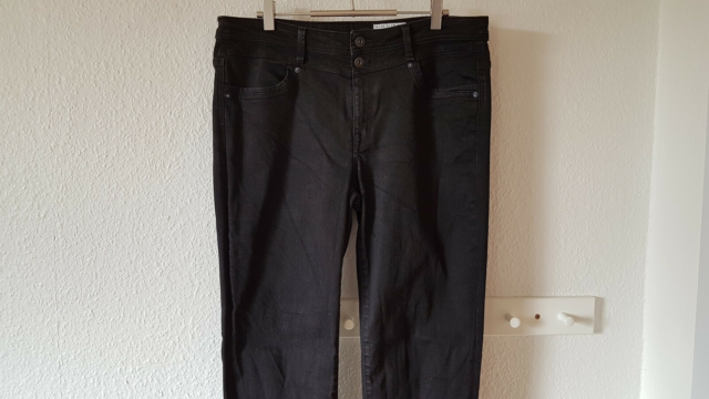 Jeans, EDC by Esprit, str. 42,  Forvasket sort denim,…