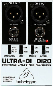 New-Behringer-Ultra-DI-DI20-Direct-box-Buy-it-Now-Make-Offer-Auth-Dealer
