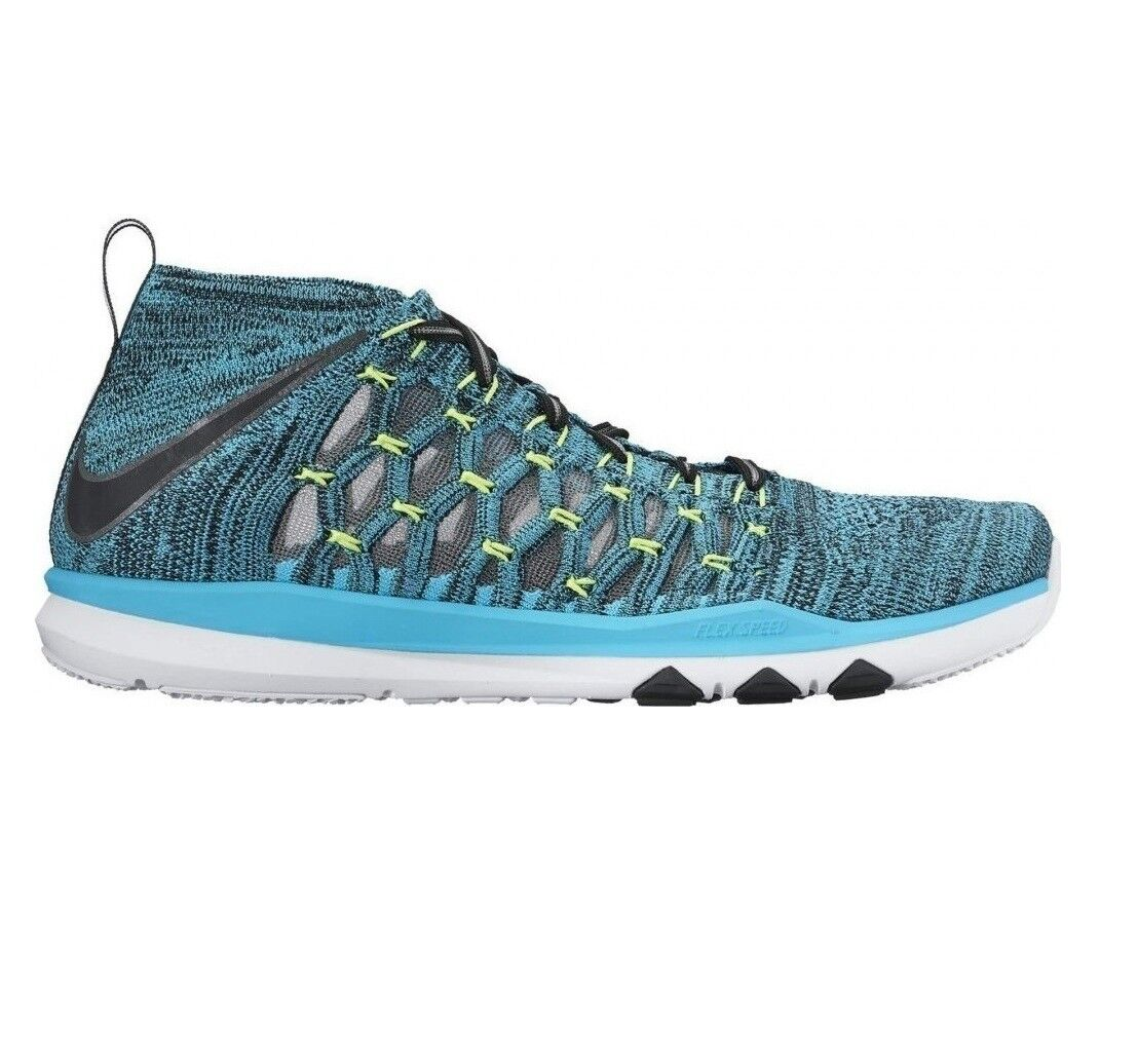 NIKE Train Blue Ultrafast Flyknit Gamma Blue Train Men's 8 Training Shoes 843694-400 19dab1