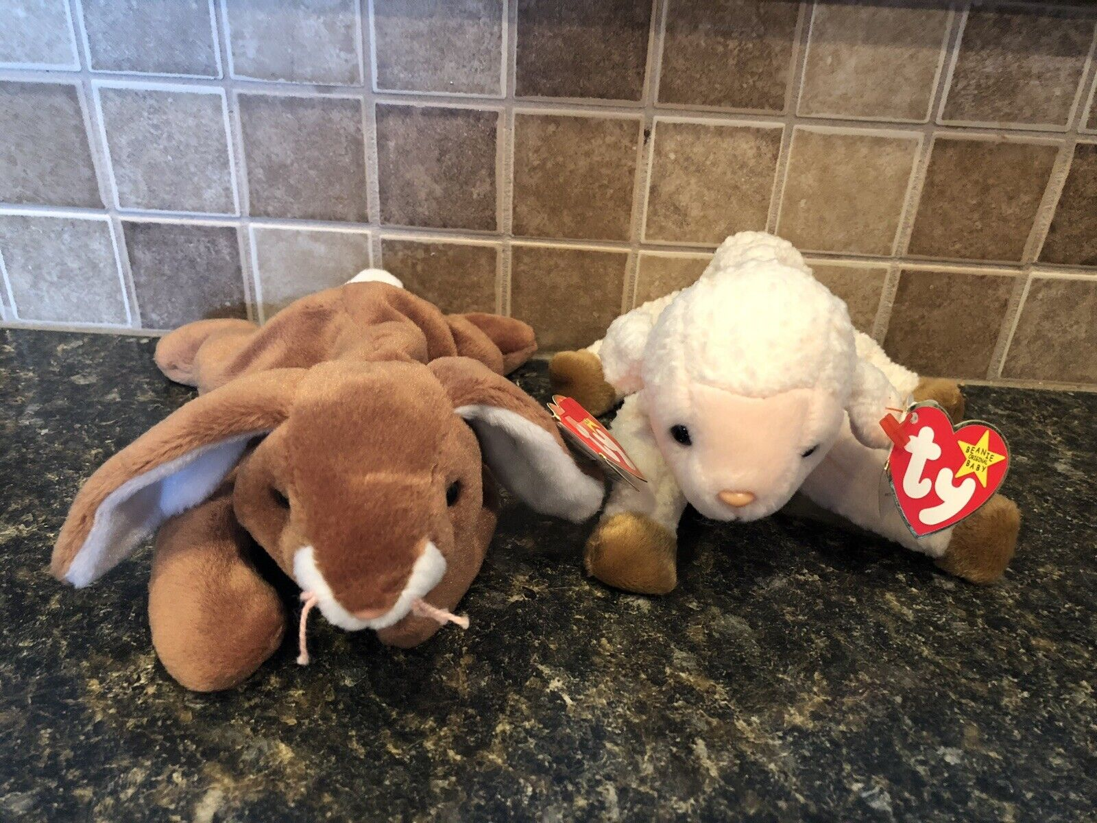 Ty Beanie Babies Ears And Ewey. Great For Easter Baskets