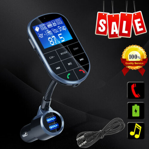 Car Bluetooth Wireless AUX Stereo Audio Receiver FM Transmitter Radio Adapter US