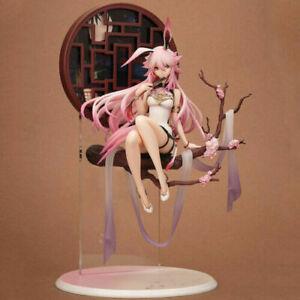 Anime Honkai Impact 3 Sakura Yae Heretic Miko cheongsam PVC Figure 31cm