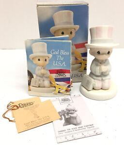 Enesco-Precious-Moments-God-Bless-The-USA-Figurine-527564-w-Box