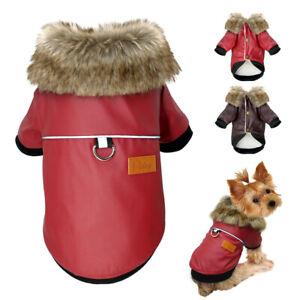 Hundemantel-Wasserdicht-Chihuahua-Hundekleidung-Hundejacke-Kapuzenpullover-S-XL