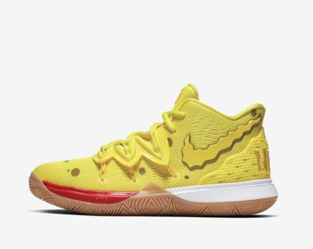 new arrival 86dc8 ac7ed Nike Kyrie Irving 5 Spongebob Squarepants Yellow Gum Brown Mens & Kids GS  Size
