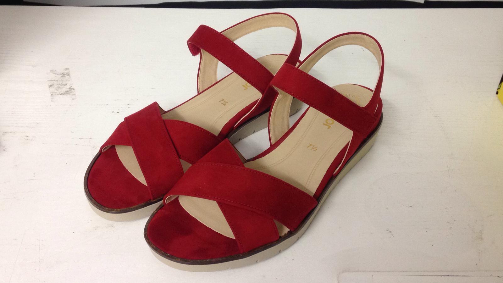 GABOR SANDAL rojo 85.500.45 CHERRY mujer WORK zapatos UK Talla 8 no box