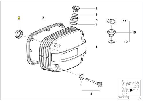 BMW MOTORRAD BOXER Motore Candele Foro Guarnizione 11121341707