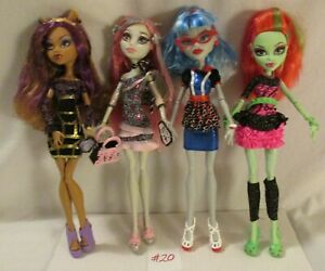 Monster-High-Ghouls-Night-Out-Ghoula-Venus-Rochelle-Clawdeen-4-Dolls-Set-2012