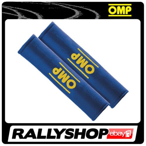 OMP SEAT BELT PADS Motorsport Rally Race Drive Blue DB//450//B CHEAP Velcro