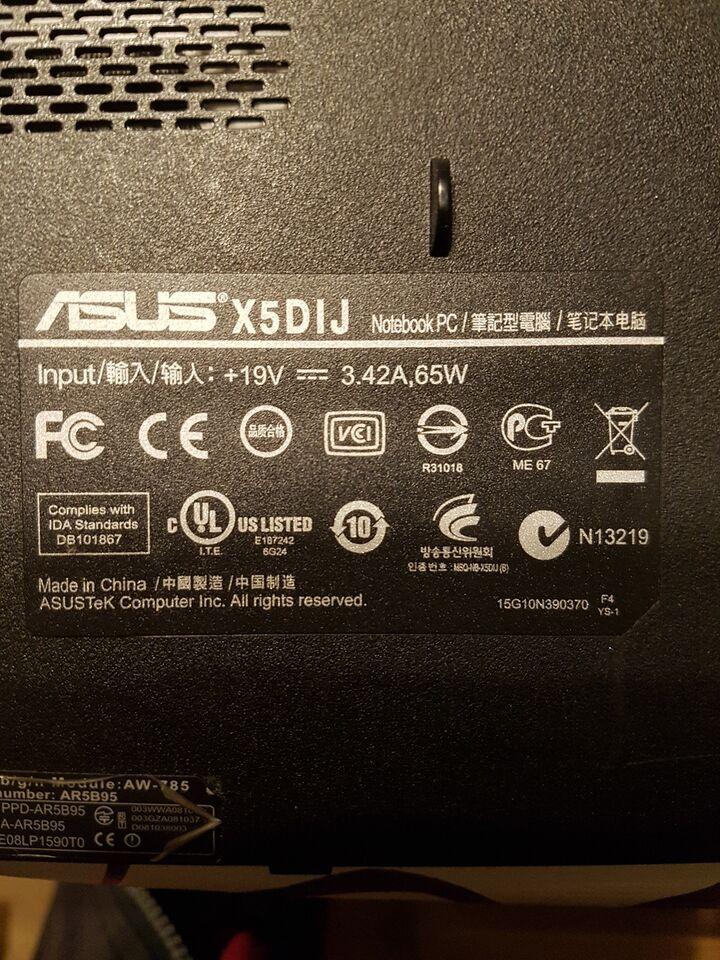 Asus X5DIJ, 0 GHz, 0 GB ram