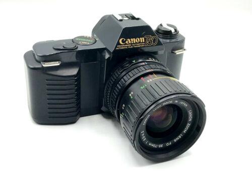 e.g. 50mm f//1.8 Canon T-50 Manual Focus 35mm SLR Camera Choice of Lenses