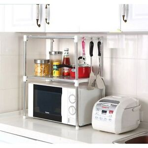 Merveilleux Image Is Loading Multifunction Microwave Oven Stainless Steel Shelf Kitchen  Storage