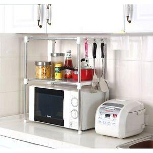 Multifunction Microwave Oven Stainless Steel Shelf Kitchen Storage