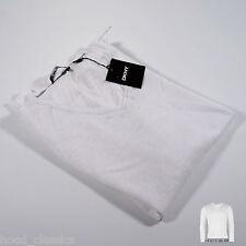 Designer DKNY V Neck Long Sleeve LINEN Light Thin See Through Summer Top Jumper