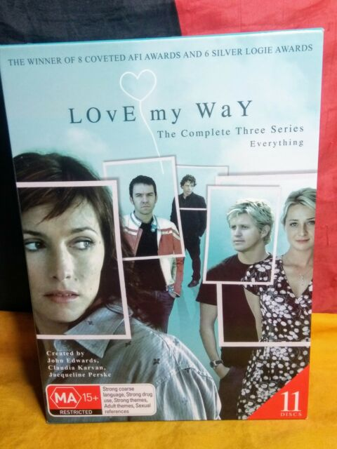 Love My Way : The Complete Series [Seasons 1, 2, 3] (DVD, R4, 2008, 11-Disc Set)