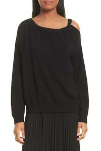 06ffa8662dcbb Image is loading NEW-Vince-Cashmere-Cold-Shoulder-Tunic-in-Black-