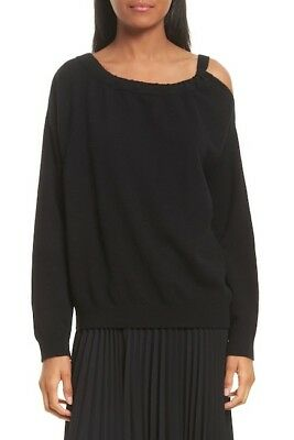 NEW Vince Cashmere Cold Shoulder Tunic in Black Size M #S263