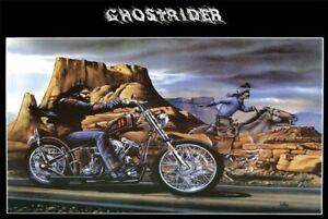ghostrider david mann cult biker poster print ebay