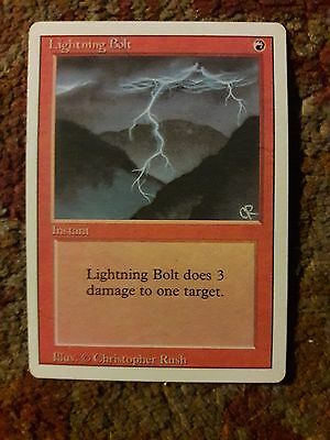 LP MTG Magic the Gathering Revised 3rd Edition Lightning Bolt